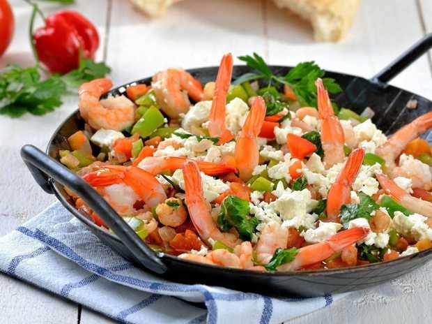 Saganaki is a delicious one-pan Greek dish.
