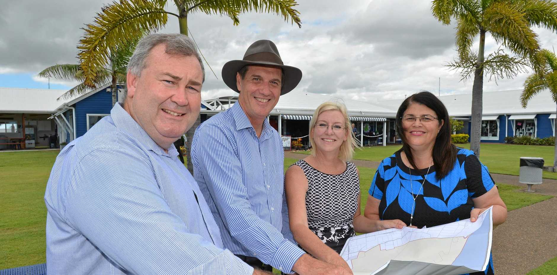 State Development Minister Dr Anthony Lynham (middle) said the State Government was providing $6.6 million to partner with Bundaberg and North Burnett councils on three important local projects.