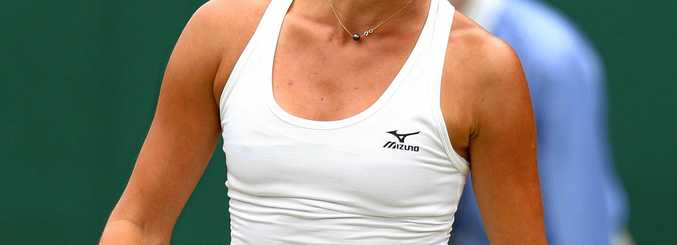 Arina Rodionova has been bundled out in the second round at Wimbledon.