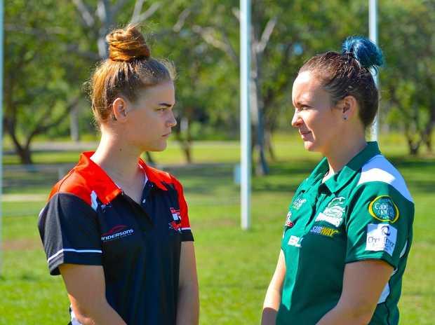 FACE-OFF: BITS Rebecca Fitton and Muddies Chelsea Smith will go head-to-head.