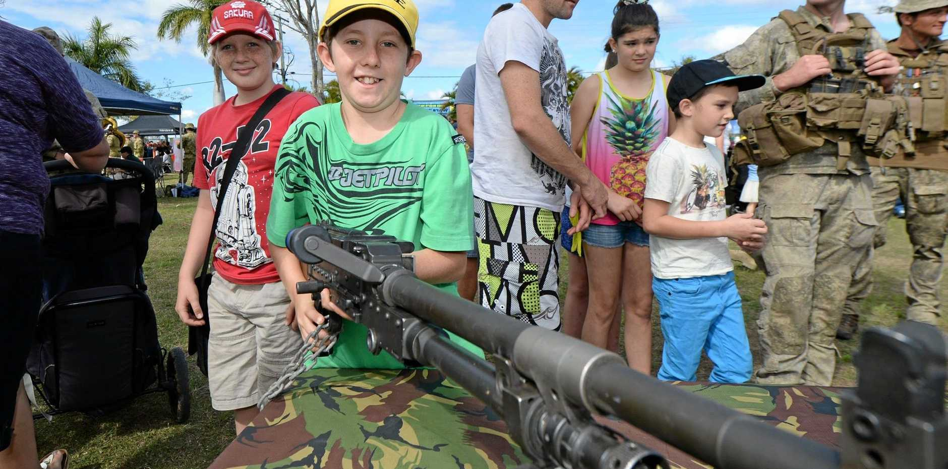 ON THE RADAR: Noel Jenkins (11) at the Talisman Sabre Open day in 2015.