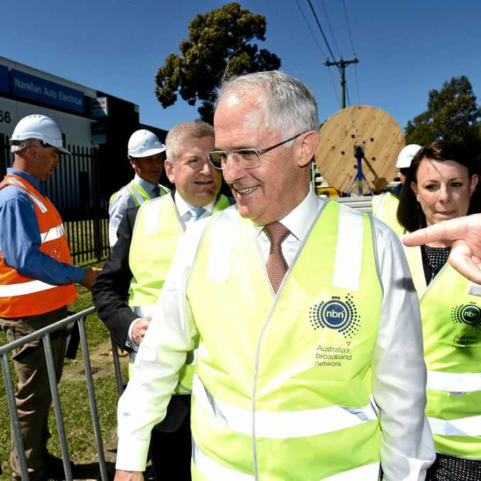 Prime Minister Malcolm Turnbull takes part in a National Broadband Network picture opportunity at Smeaton Grange, south-west Sydney in September last year.
