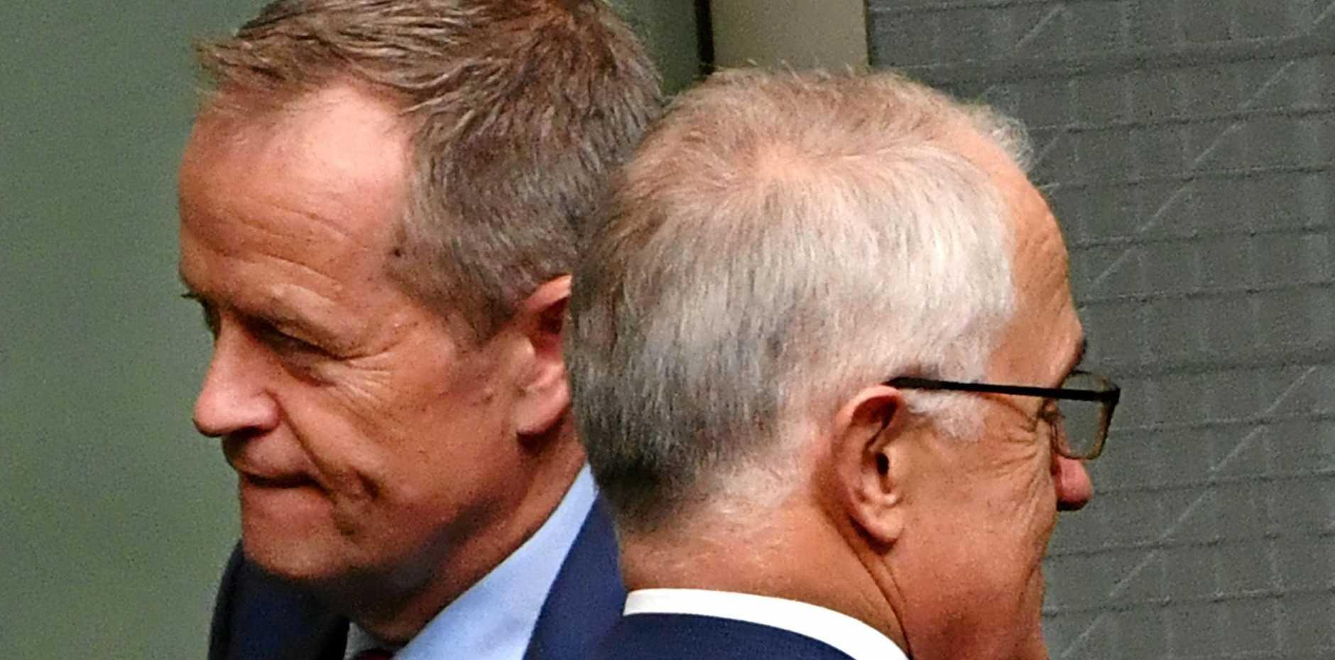 TRIBAL - Opposition Leader, Bill Shorten and Prime Minister Malcolm Turnbull