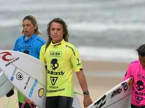 Groms get into it at Lennox Head