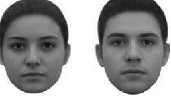 Volunteers were able to detect whether these were the faces of 'rich' or 'poor' students. Picture: Researchgate