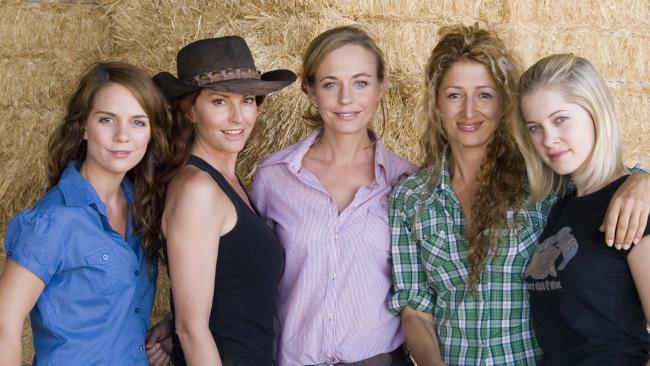 The way they were: Banas with McLeod's Daughters co-stars Simmone Jade Mackinnon, Abi Tucker, Doris Younane and Gillian Elexy in 2007.