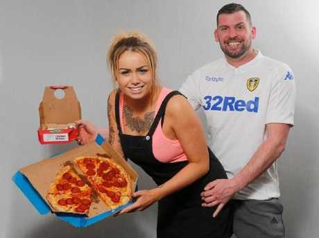 Daniella Hirst, 28 and Craig Smith, 31, were waiting for their stuffed crust takeaway in February when they allegedly carried out the public sex act.