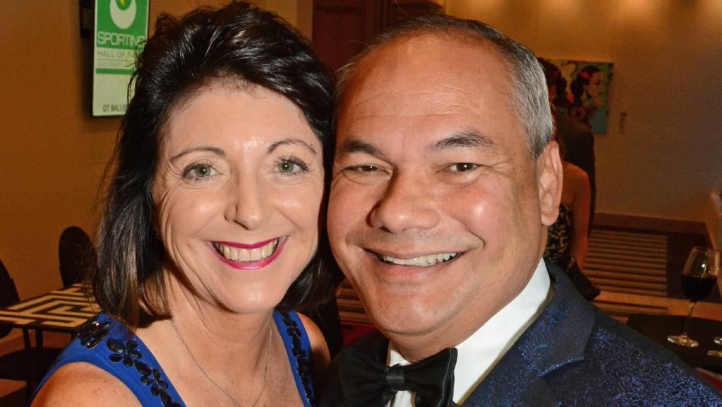 Ruth & Mayor Tom Tate at the recent Gold Coast Sports Awards dinner at QT Gold Coast. Photo: Regina King.