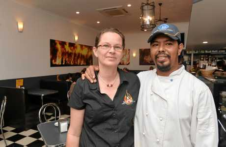 Sarah and Ivan Oehlert who own The Blaze Cafe in Proserpine.