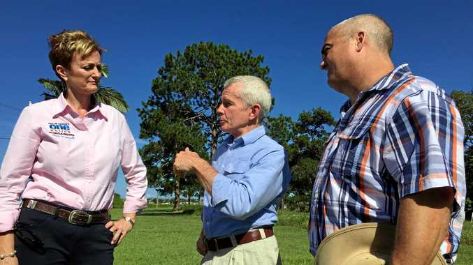 One Nation Bundaberg candidate Jane Truscott with Senator Malcolm Roberts and Hervey Bay One Nation candidate Damian Huxham has supported calls for a new hospital in Bundaberg.