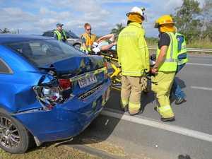 Two taken to hospital after car crash