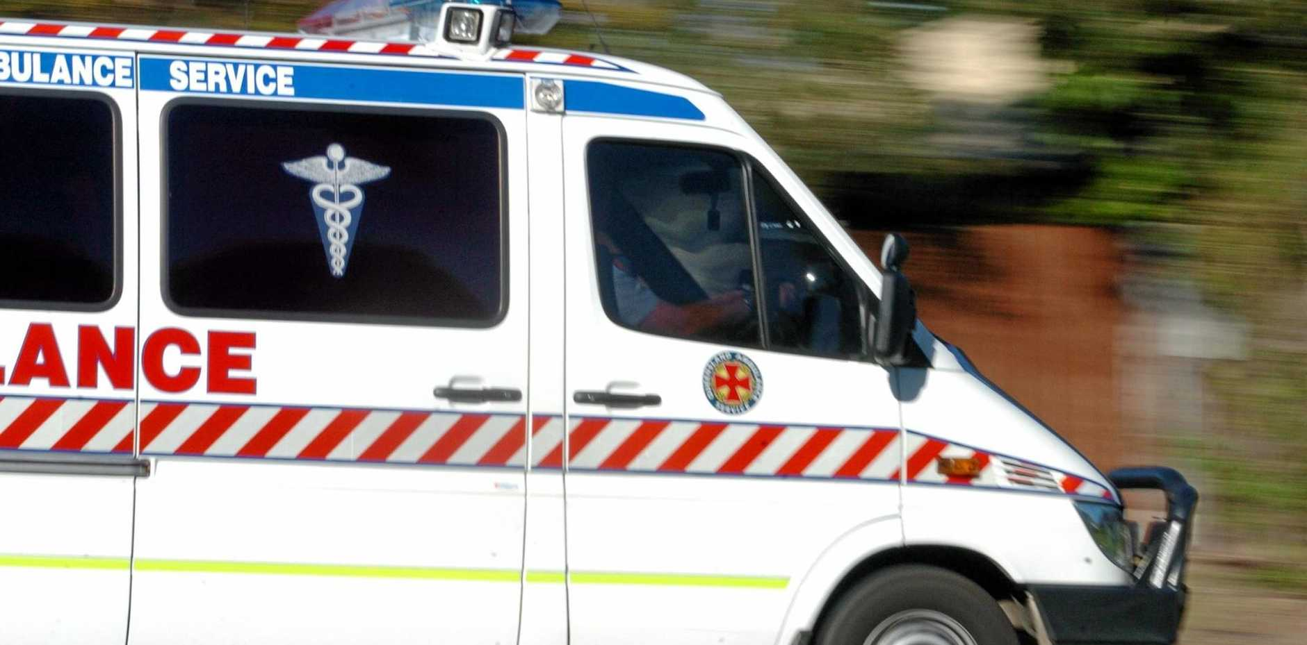 Emergency services have rushed to the scene of a two-vehicle at Glass House Mountains.
