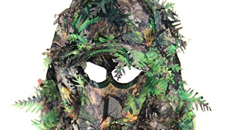 A bush camouflage head mask similar to the one worn by the Central Coast attacker.