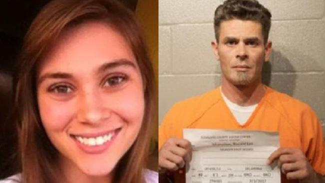 Kailee McMullen, 22 (left) was allegedly shot dead by her father, Ronald McMullen (right), last week. Picture: Facebook/Cleveland County Jail