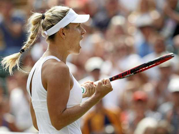 Wimbledon 2017: Angelique Kerber overcomes canny Kirsten Flipkens to reach third round
