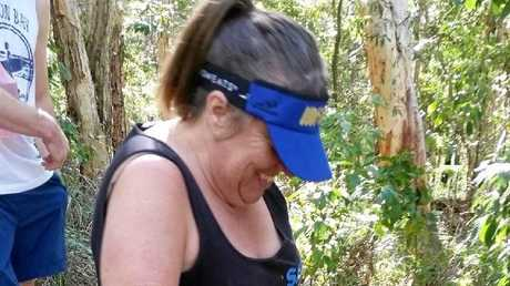 Tania Sherley, who lives with spina bifida and hydrocephalus, braved a tough climb up Mt Coolum on Saturday, July 9.