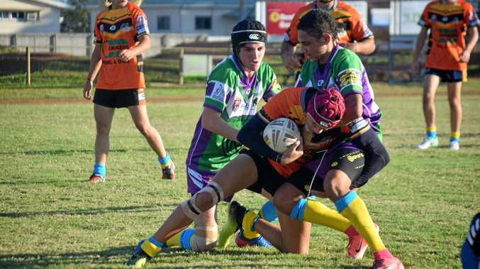 Whitsunday Brahmans played West Tigers in the under-19s curtain raiser at Les Stagg on Saturday.