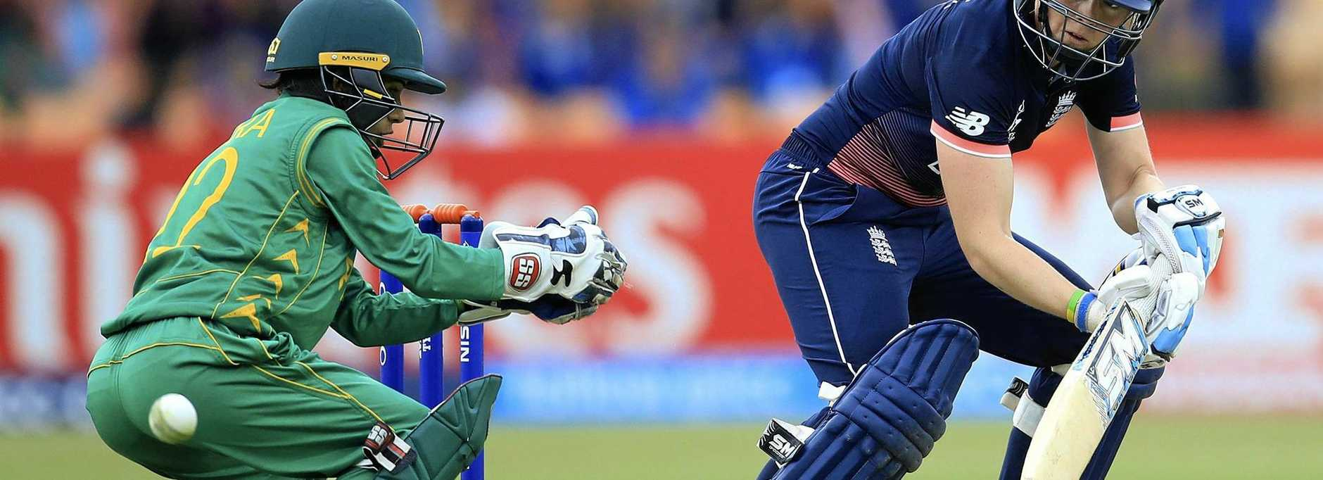 England's Heather Knight plays a shot against Pakistan during their ICC Women's Cricket World Cup. England captain Knight said her team is eagerly looking forward to their clash with Australia.