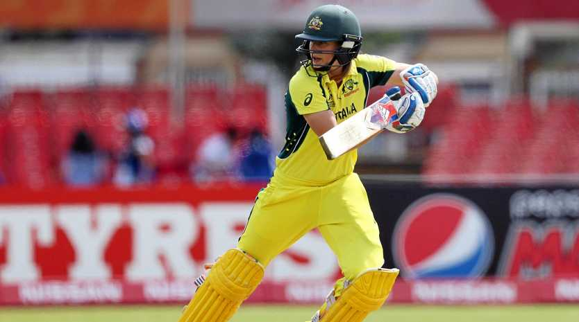 IN FORM: Australia's Ellyse Perry steers the ball toward the boundary during her side's ICC Women's World Cup 2017 match with Pakistan.