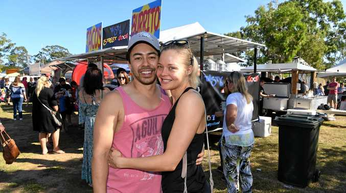 GOOD TASTE: Brad Wong and Tracey Watson at the Bundy Flavours and Winterfeast Farmers Market.