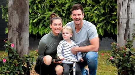 Runner's up Kate and Harry with their son Xavier, 2.5yrs.