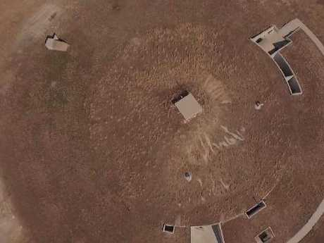 Maximum security. The compound from the air.