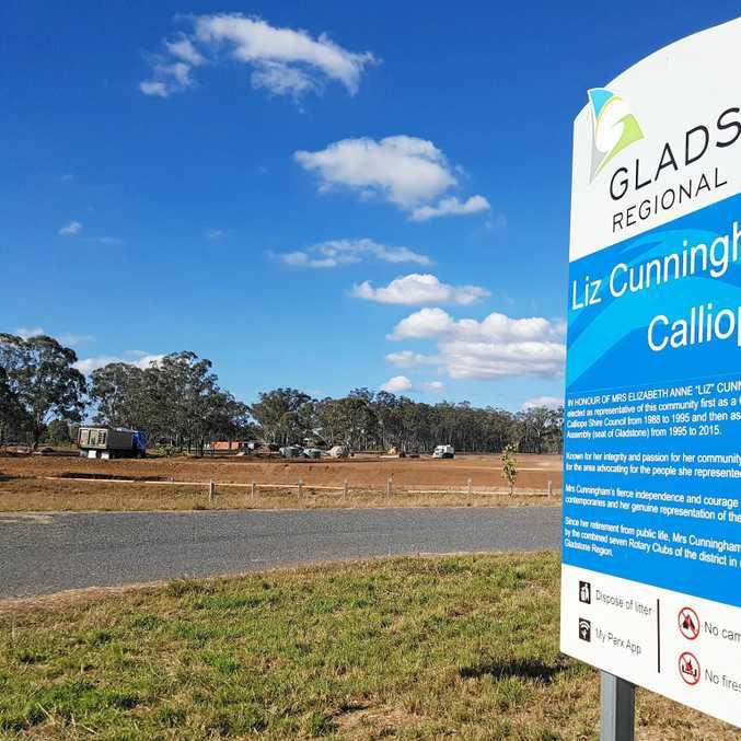 UNDERWAY: Work has commenced on upgrading Liz Cunningham Park at Calliope.
