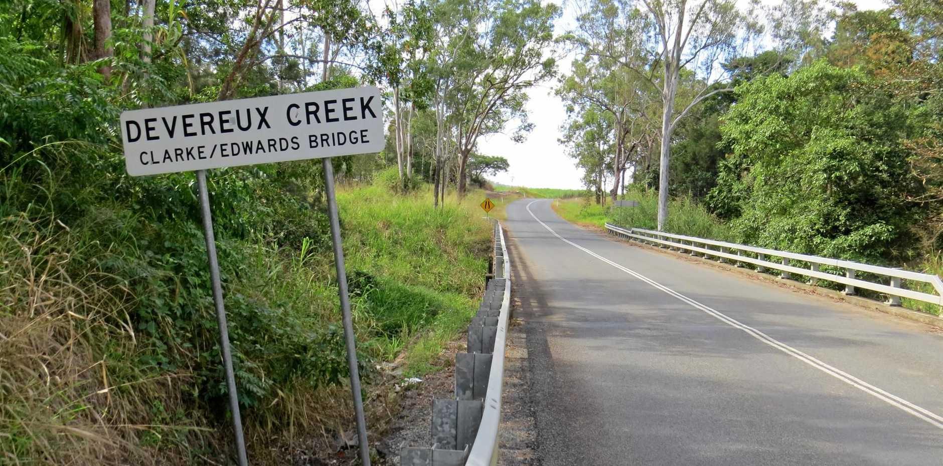 The bridge over Devereux Creek on Devereux Creek Rd.