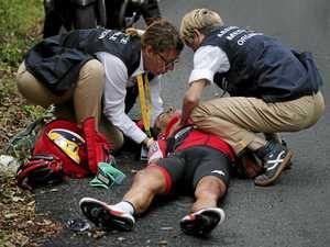 Porte crashes out of Tour