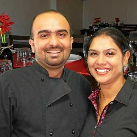 NUMBER ONE: Ice 'N' Spice owners Jasvinder Jammu (left) and Gurpreet Kaur claimed the title of top delivery restaurant in Toowoomba on Trip Advisor.