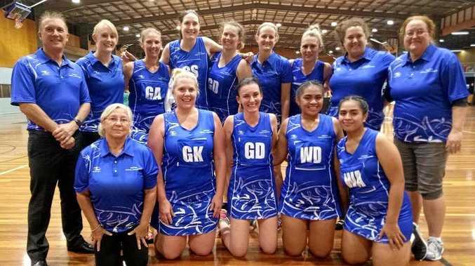 The Goodna Sapphires netball team.