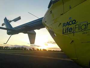 Darling Downs toddler airlifted with facial injuries