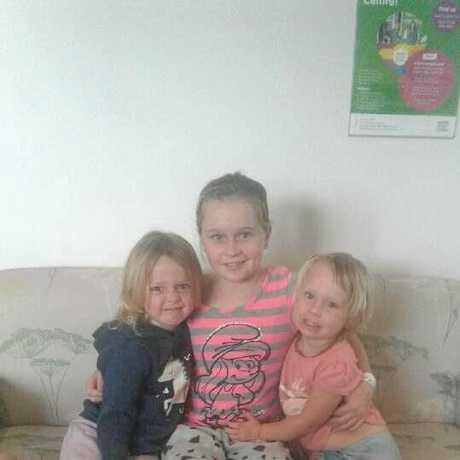 FIGHTER: Jade Carney with her younger siblings.