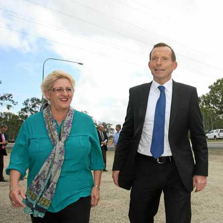 In 2013, Michelle Landry was the LNP candidate and Tony Abbott the Opposition leader when he came to Rockhampton for an announcement on upgrading the Bruce Hwy.