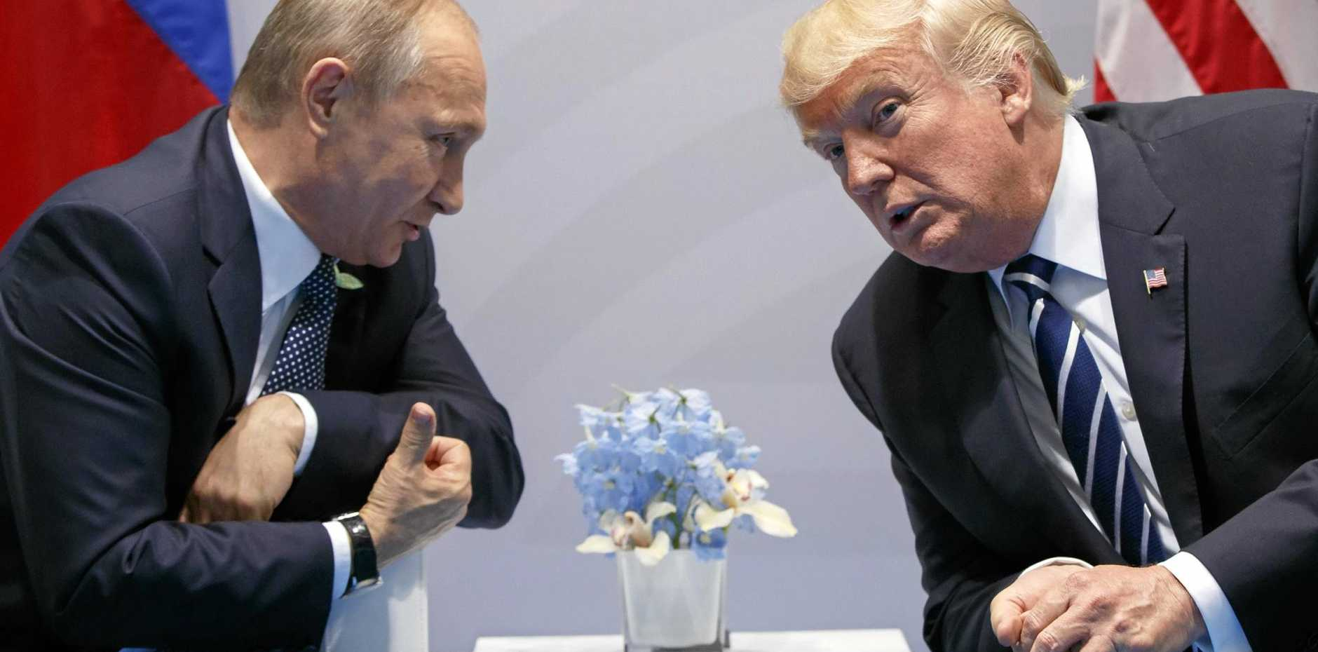Russian President Vladimir Putin and US President Donald Trump meet at the G20 Summit in Hamburg.