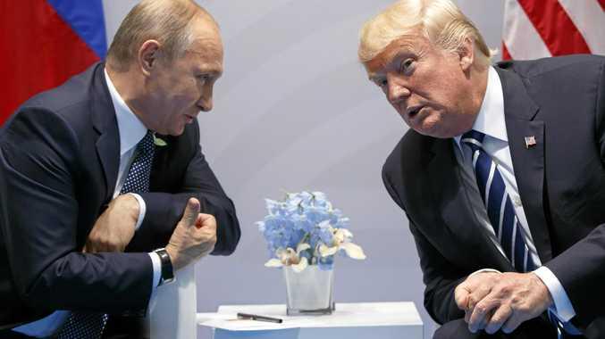 Russian President Vladimir Putin and US President Donald Trump meet at the G20 Summit in Hamburg.