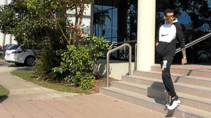 FINED: Kale-Anthony Zerafa, 27, leaves Maroochydore Magistrates Court.