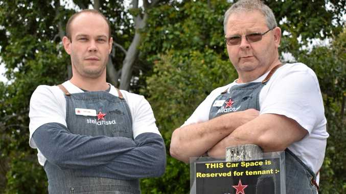 NOT HAPPY: Nathan Berting (left) and Nev Volker are left feeling