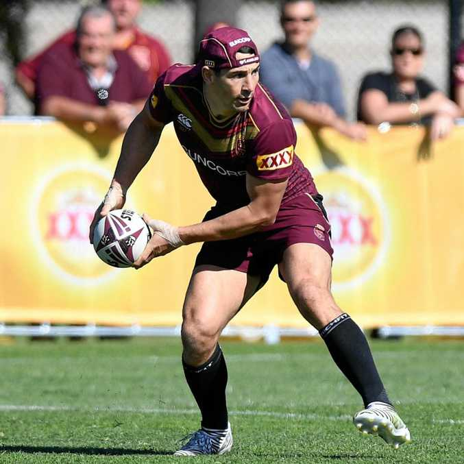 BILLY'S GOOD: Queensland Maroons captain Cameron Smith says fullback Billy Slater (pictured) is an almost certain starter for Origin tomorrow night.
