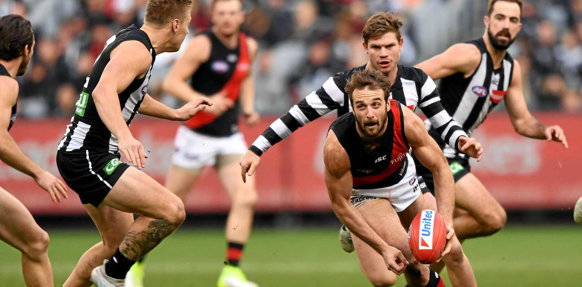 WHEREABOUTS UNKNOWN: The exact location of Jobe Watson's 2012 Brownlow Medal is unknown. Watson's Seb Ross said he thinks he saw it on a shelf at his grandparents house.