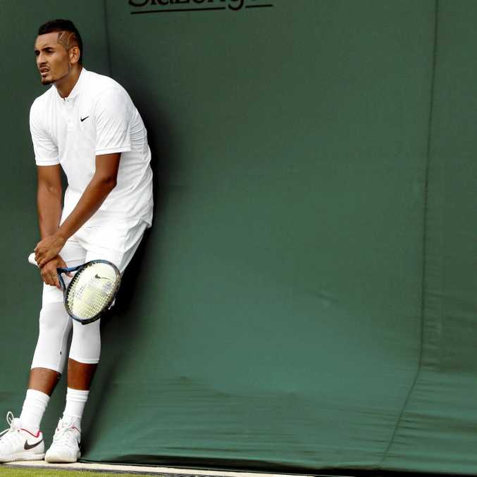 Nick Kyrgios will play at Queens in the lead-up to Wimbledon. (AP Photo/Kirsty Wigglesworth)