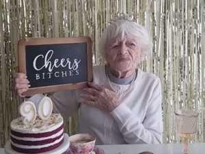 'Cheers bitches': Birthday grandma becomes viral star