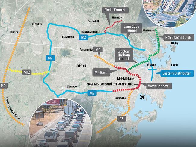 Sydney's web of toll roads.