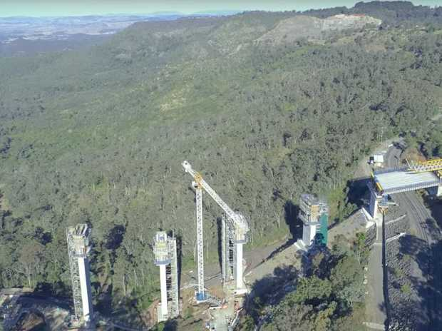 Incredible aerial footage of the Toowoomba Second Range Crossing has been published to YouTube by user ThePa1nter.