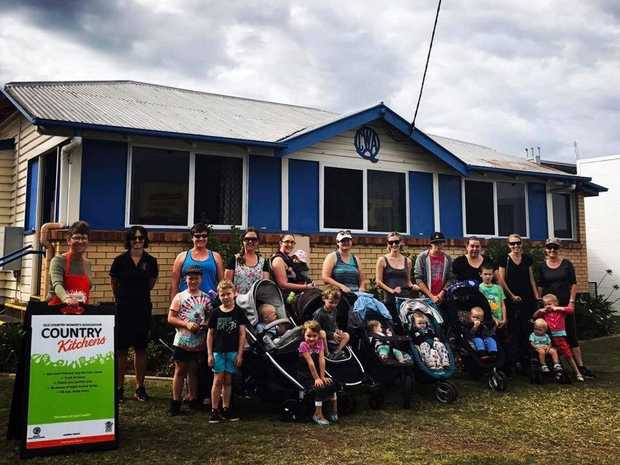 OUT AND ABOUT: Mums and kids in the QCWA Kingaroy walking group hit the streets regularly to get active.