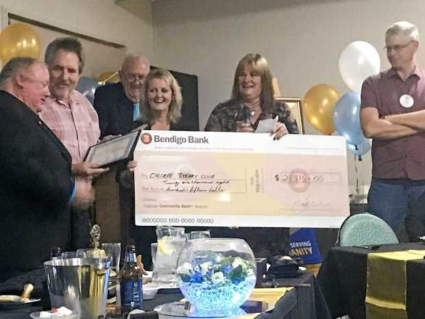 BIG BUCKS: Calliope Rotary Club have used the funds to help the community.