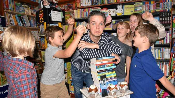 MUFFIN MAN: Children's author Tristan Bancks gets inundated with muffins
