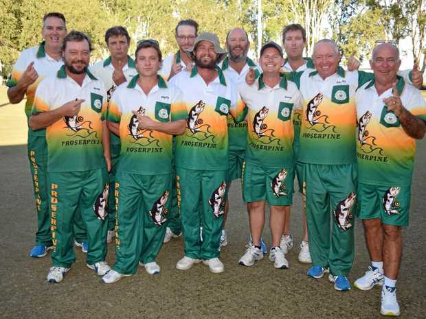 CHAMPIONS: The Proserpine Bowls Club men's teams that won Division 1 Pennants for the first time in 22 years.