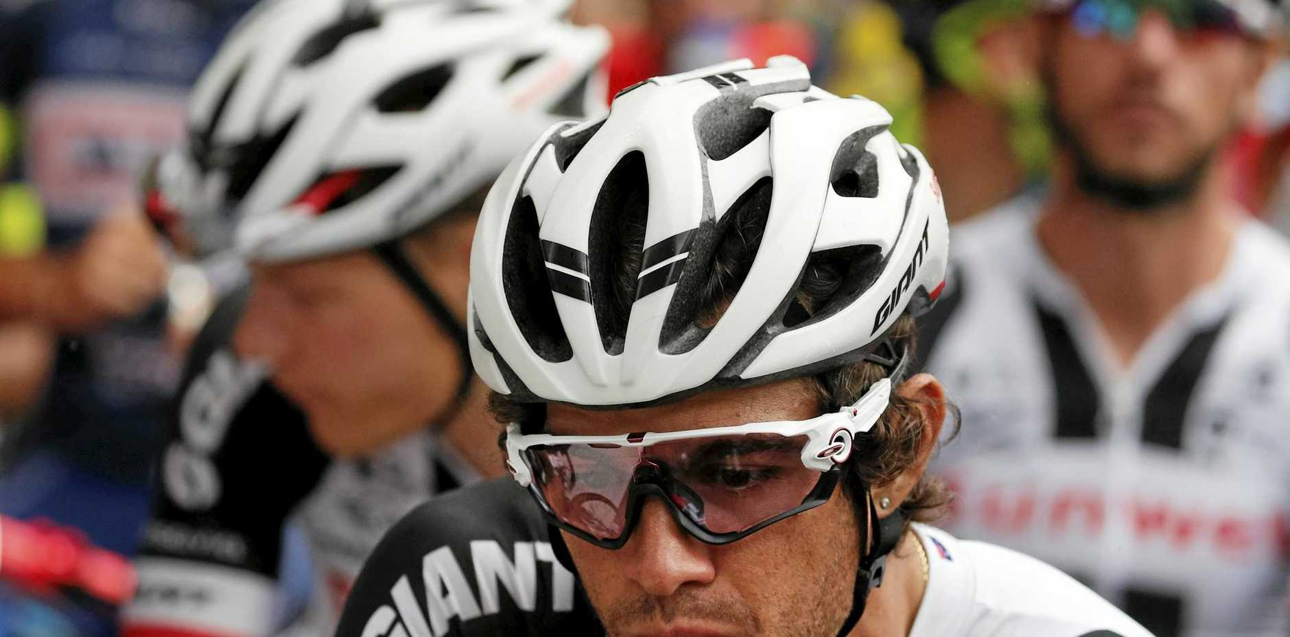 Australia's Michael Matthews waits to take the start of the ninth stage of the Tour de France