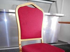 Restaurant chairs grow legs and run away